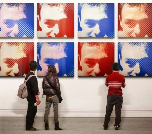 My portait with a Warhol effect, and placed in a museum